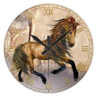 Fantasy Wild Horse Wall Clock