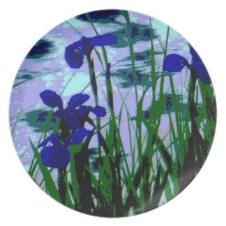 fantasy wildflower decorative plate