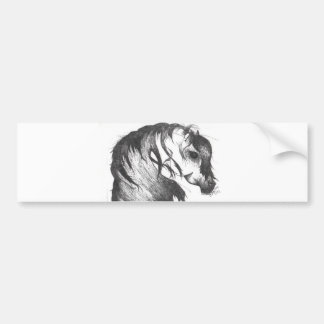 Fantasy wind blown horse bumper sticker