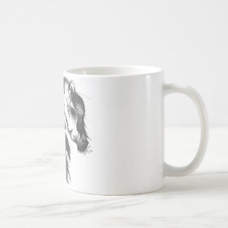 Fantasy wind blown horse coffee mug