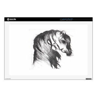Fantasy wind blown horse decals for laptops