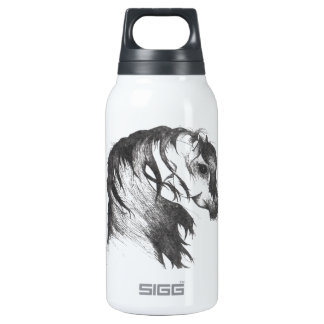 Fantasy wind blown horse insulated water bottle