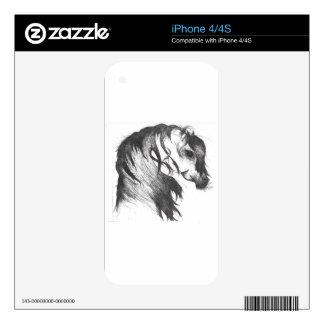 Fantasy wind blown horse iPhone 4 skin