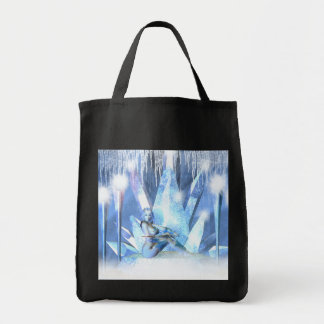 Fantasy Winter Ice Queen Grocery Bag