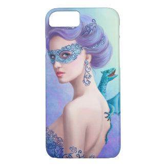 Fantasy winter woman, beautiful snow queen iPhone 7 case