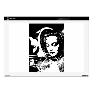 fantasy woman dream girl pinup decal for laptop