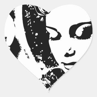 fantasy woman dream girl pinup heart sticker