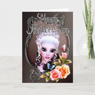 Fantasy Woman & Roses - Mother's Day Card