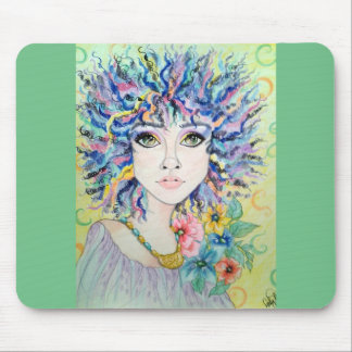 Fantasy Woman's Face True Colors Mousepad
