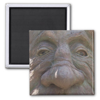 Fantasy Wood Carving Old Face in the Tree Magnet