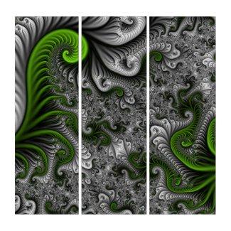 Fantasy World Green And Gray Abstract Fractal Art (3) 36