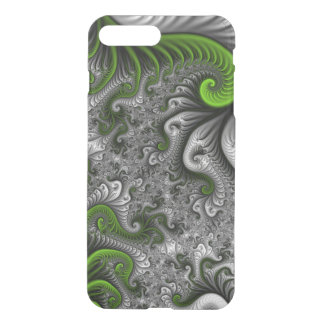 Fantasy World Green And Gray Abstract Fractal Art iPhone 7 Plus Case