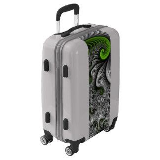 Fantasy World Green And Gray Abstract Fractal Art Luggage