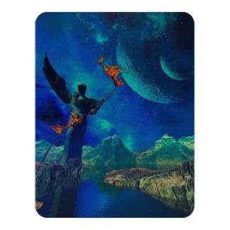 Fantasy world 4.25x5.5 paper invitation card