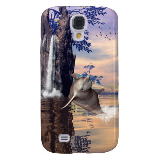 Fantasy world with dolphin samsung galaxy s4 cover