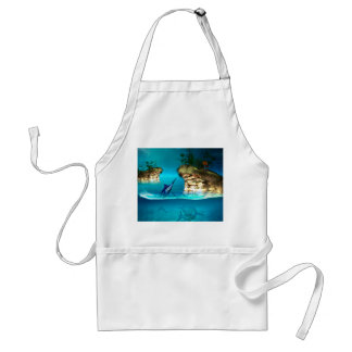 Fantasy world with marlin adult apron