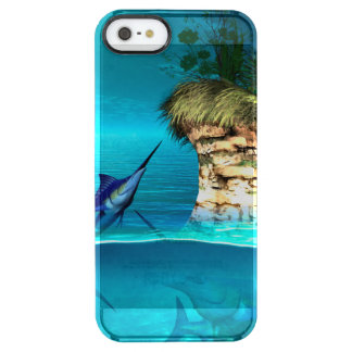 Fantasy world with marlin clear iPhone SE/5/5s case