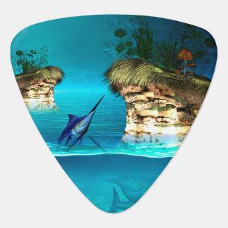 Fantasy world with marlin guitar pick
