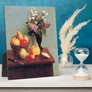 Fantin-Latour Enrique - todavía vida con las flore Placa Para Mostrar