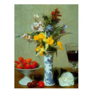 Fantin-Latour Henri - Still Life Postcard