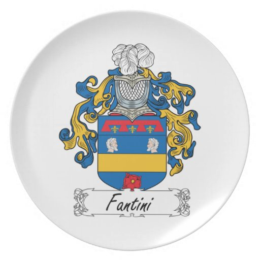 Fantini Family Crest Party Plates