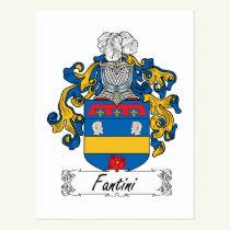 Fantini Family Crest Postcard