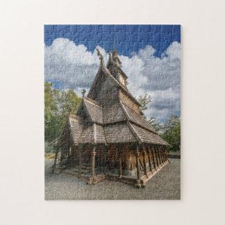 Fantoft Stave Church, Bergen, Norway Jigsaw Puzzle