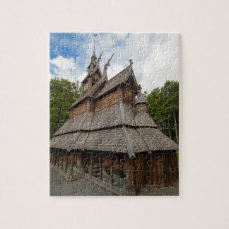 Fantoft Stave Church in Bergen, Norway Jigsaw Puzzle