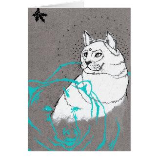 Fantomes le sous gui de la carta tarjeta de felicitación