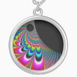 Fanyc - Mandelbrot Fractal Art Silver Plated Necklace