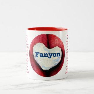 Fanyon Valentine mug with couples names