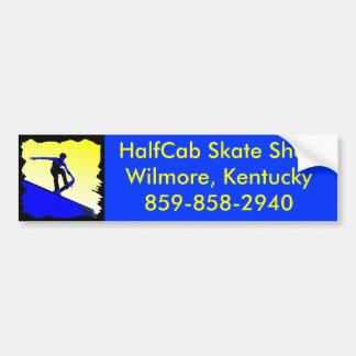 FAP416 Basic, HalfCab Skate ShopWilmore, Kentuc... Car Bumper Sticker