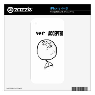fap accepted iPhone 4S decals