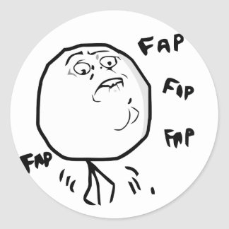 Fap Meme - pegatinas redondos