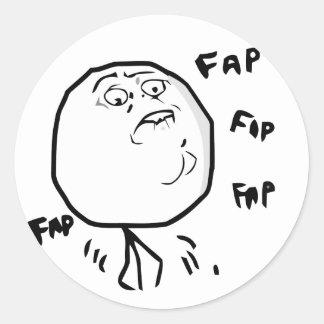 Fap Meme - Round Stickers
