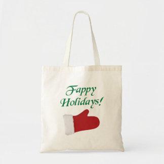 Fappy Holidays Christmas Glove Canvas Bag