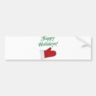 Fappy Holidays Christmas Glove Car Bumper Sticker