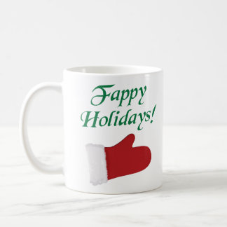 Fappy Holidays Christmas Glove Coffee Mug