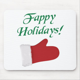 Fappy Holidays Christmas Glove Mouse Pad