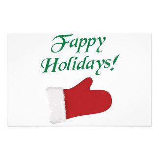 Fappy Holidays Christmas Glove Stationery