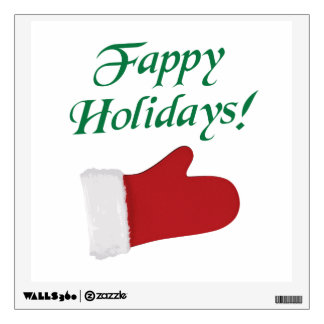 Fappy Holidays Christmas Glove Wall Decal