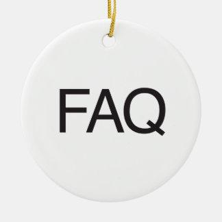FAQ ORNAMENT