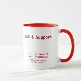 FAQ & Support Mug