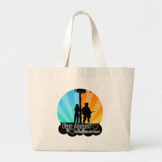 Far Apart Large Tote Bag