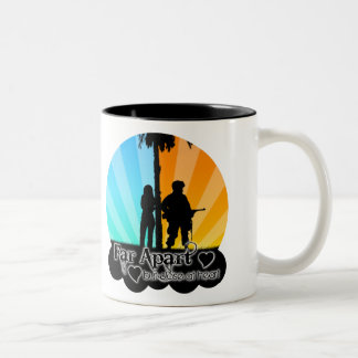 Far Apart Two-Tone Coffee Mug