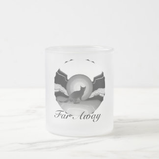 Far Away Frosted Glass Coffee Mug