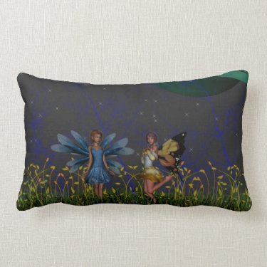 Far Away Pixies Throw Pillows