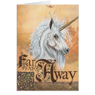 Far Away Unicorn Greeting Card