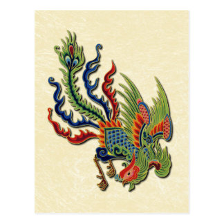 Far East China Chinese Wealthy Peacock Tattoo Postcard