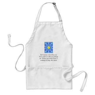 Far Eastern Inspired Art with Lao Tzu Life Quote Adult Apron